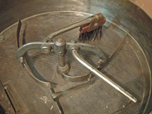 Old Coffee roasting machine warming tray