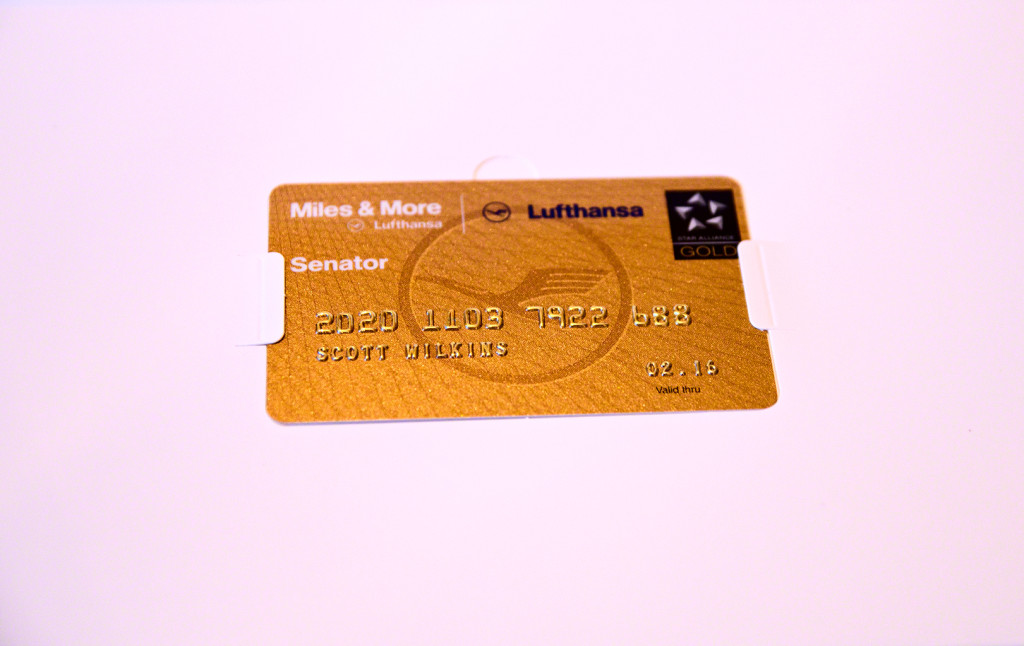 Star Alliance GOLD card