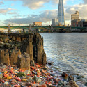 The Shard, from the banks of the Thames, London