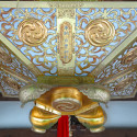 Temple ceiling with gold
