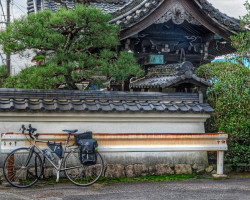 Bicycle outside Temple