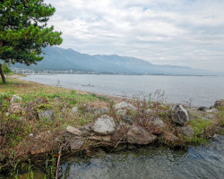 Lake Biwa Coastline, Japan