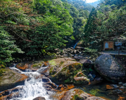 Photo of the start of a hiking trail on Yakushima island, Japan