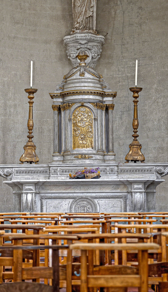 Colour Photo of a beautiful Church side Altar - Brussels, Belgium